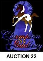 CHAMPION SADDLERY'S ONLINE SADDLE AND TACK AUCTION #22
