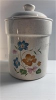 Ceramic Canisters With Floral Design (2)