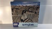 Zebra Herd 2000 Piece Springbok Jigsaw Puzzle NIP