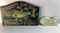 Grandpa Fishing Wall Decor