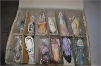 box of mini collectible shoes