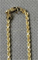 """14k Gold 13 """" Rope Chain 3.2 Dwt"""