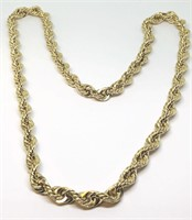 14KT YELLOW GOLD 126.40 GRS 24 INCH ROPE CHAIN