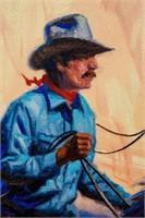 Art Original Oil 'Pay Day' Harold Lloyd Lyon