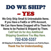 WE WOULD LOVE TO ACCOMMODATE YOUR SHIPPING NEEDS