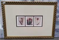 91 - SIGNED & MATTED TULIP ART