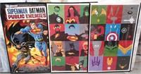 11 - NICE 3 SUPER HEROS FRAMED POSTERS