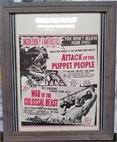 """11 - FRAMED """"ATTACK OF THE PUPPET PEOPLE"""" ART"""
