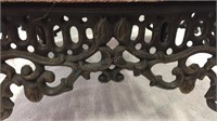 Vintage Wrought Iron Foot Stool