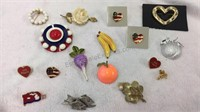 Assorted Vintage Brooches/Pins