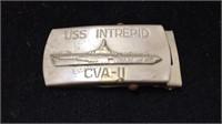 Vintage USS Intrepid CVA-11 Belt Buckle