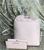 Lovely Michael Kors Backpack and Wallet