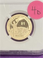 (4D) MOHAWK IRON WORKERS 2015-S SACAGAWEA GRADED