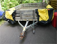 "Triton modified tilt bed trailer, 100"" x 120"" bed&"
