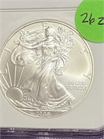 """2009 """"MS69"""" - AMERICAN EAGLE SILVER DOLLAR (26Z)"""