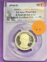 (6F) ANACS PR70 DCAM GRADED PRESIDENTAL $1
