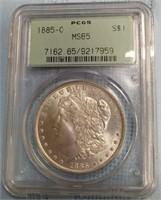 """1885 """"O"""" 'MS65' - MORGAN SILVER DOLLAR (A41)"""