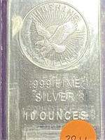 .999 FINE SILVER 10 OUNCES (38LL)