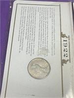 1922 - PEACE SILVER DOLLAR (50XX)