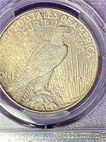 (11K) 1935 GRADED SILVER PEACE DOLLAR MS63