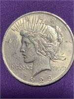 1923 - PEACE SILVER DOLLAR (D)
