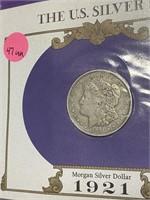 1921 - SILVER MORGAN DOLLAR (47UU)