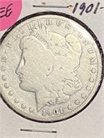 """1901 """"S"""" - MORGAN SILVER DOLLAR (31EE)"""