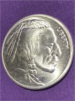 (I) 1 TROY OZ INDIAN SILVER COIN