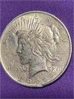 1922 - PEACE SILLVER DOLLAR (N)