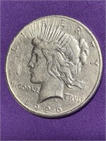 1926 - PEACE SILVER DOLLAR (H)