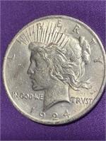 1924 - PEACE SILVER DOLLAR (M)