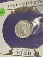 1926 - PEACE SILVER DOLLAR (45SS)