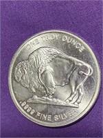 """"""".9999"""" 1.0oz FINE SILVER BUFFALO COIN (L)"""