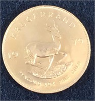 Gold Krugerrand and Silver Coin Auction Ending Oct. 1 at 9am