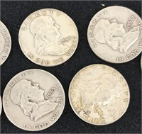 Thirteen Half Dollars-2 Walking Liberty (1941, 44)