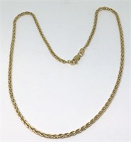 14KT YELLOW GOLD 9.40 GRS 16 INCH CHAIN