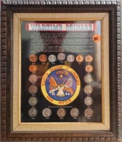 Framed Wartime Coinage Set (201)