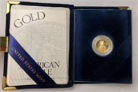 (313) 2001-W PROOF AMERICAN EAGLE GOLD COIN