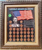 (202) FRAMED LINCOLM MEMORIAL COINS