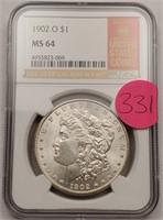 "1902 ""O"" ""MS64"" MORGAN SILVER DOLLAR (331)"