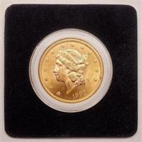 (308) 1900 $20 GOLD LIBERTY COIN