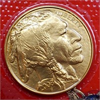 (311) 2008 $50 US GOLD INDIAN COIN
