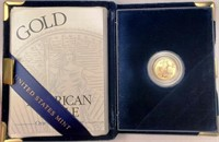 (312) US MINT 2001-W PROOF $5 GOLD COIN