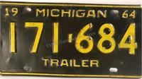 Vintage Michigan License Plate