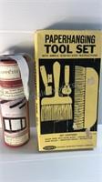 Vintage Paperhanging Tool Set & Removable Vinyl