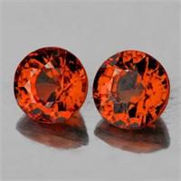 Natural Intense Orange Tourmaline Pair {Flawless-V