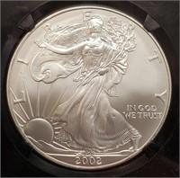 """2002 """"MS69"""" - AMERICAN EAGLE SILVER DOLLAR (338)"""