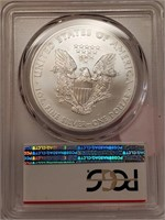 "2011 ""S"" ""MS69"" - AMERICAN EAGLE SILVER DOLLAR (34"