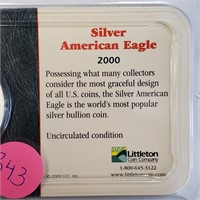 """LOT OF 2 - SILVER AMERICAN EAGLE """"DOLLARS"""" (343)"""