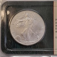 """LOT OF 2 - SILVER AMERICAN EAGLE """"DOLLARS' (344)"""